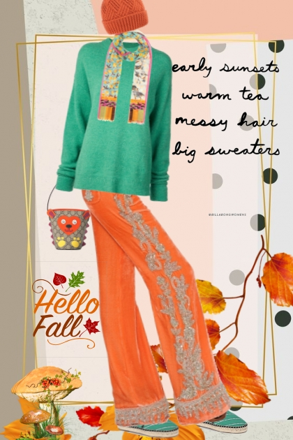 hello fall bright colors and all