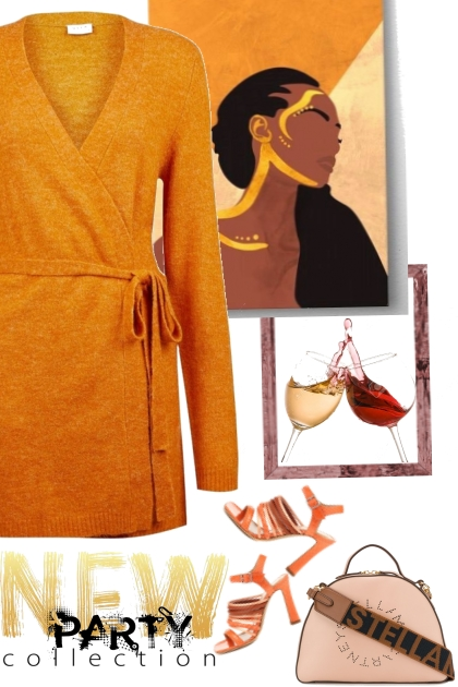 casual orange dress 4 a work party