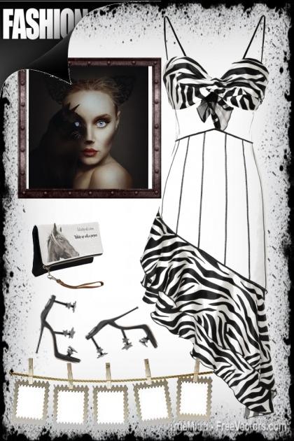 black n white  fashion
