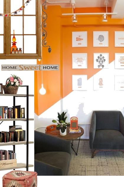black n orange color combo