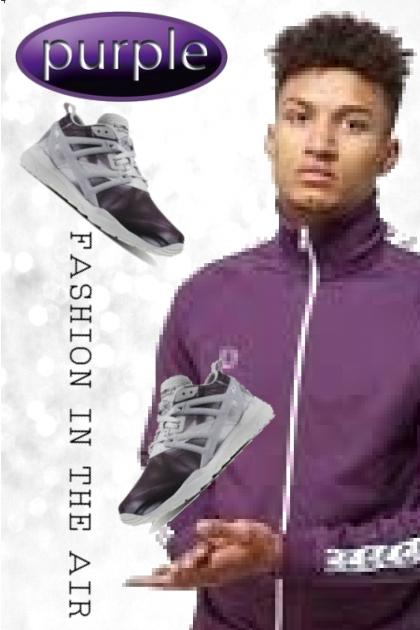 purple fashion in the air
