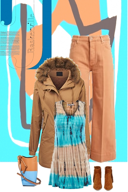 light blue n tan combo - Fashion set