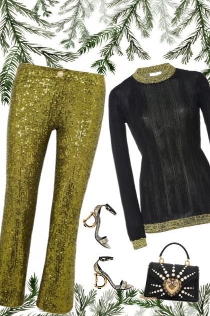 festive metallic green