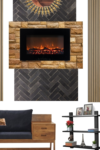 cozy wall fire