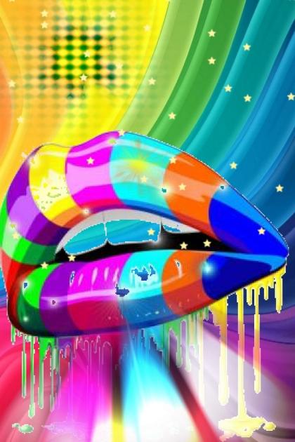 rainbow lip lines