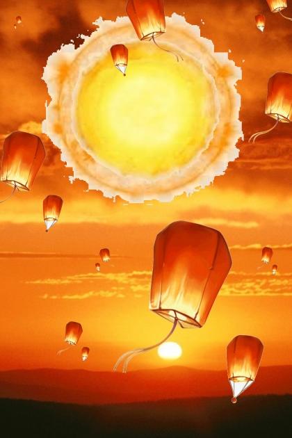 lit by the light of 1000 lanturns