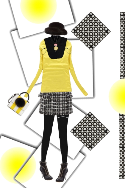 fashionable yellow work bug