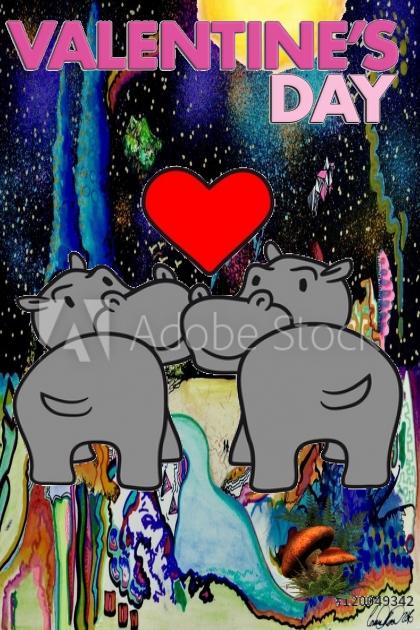 valentines hippo's