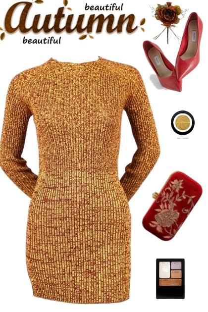 BEAUTIFUL AUTUMN SWEATER DRESS