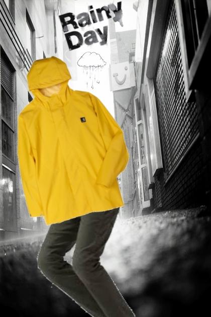 yellow rain coat- Fashion set