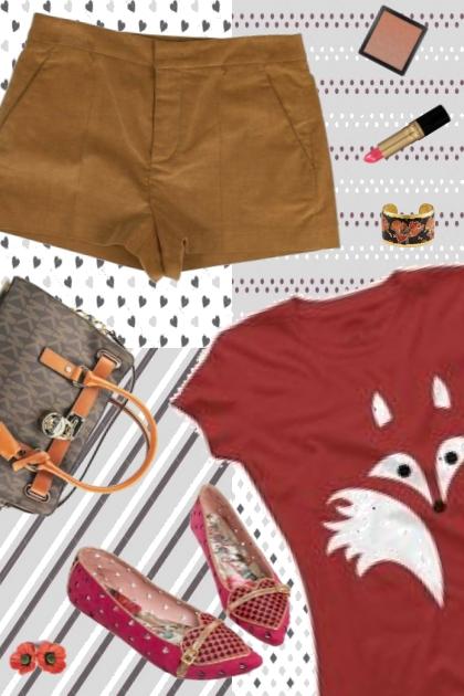 pink graphic fox- Fashion set