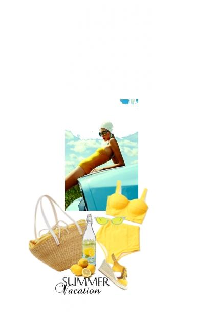 Un Été Couleur de Soleil / A Sun Colour Summer- Combinazione di moda