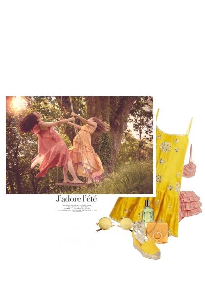 Sur La Même Balançoire / On The Same Swing- combinação de moda