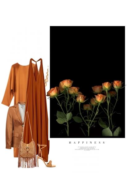 Le Bonheur de Couleur Orange- Fashion set