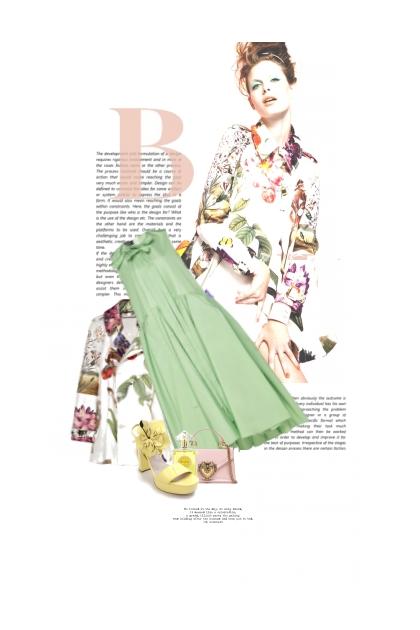 Fleurs De Printemps / Spring Flowers- combinação de moda