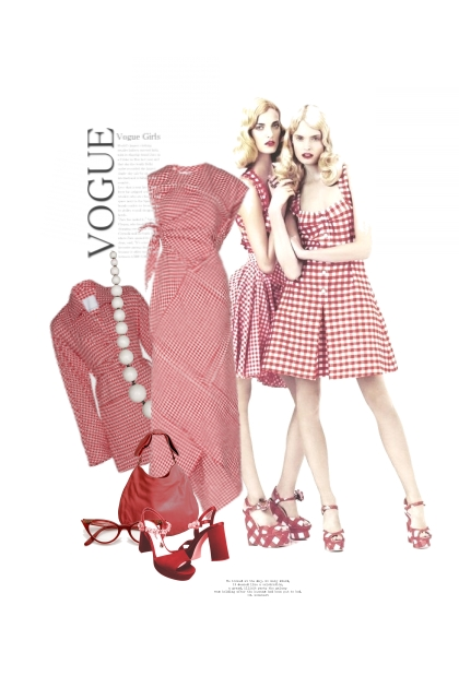 Humeur Vichy / Gingham Mood- Fashion set