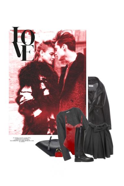 Quand L'Amour Embrasse Le Noir Et Le Rouge