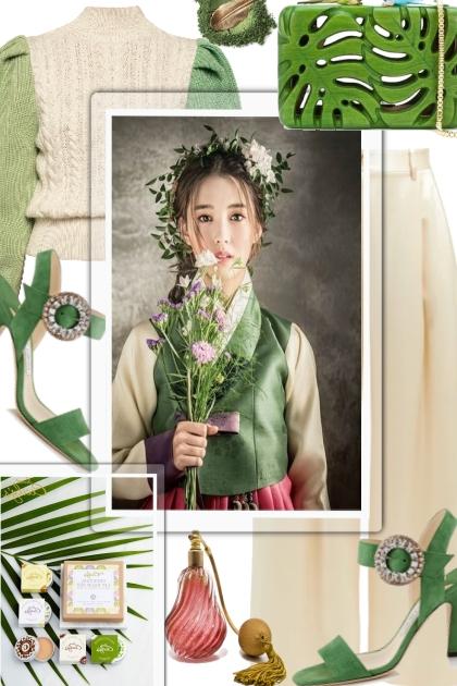 Cream & Green