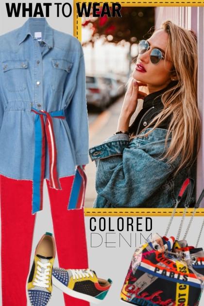 Colored Denim- Fashion set