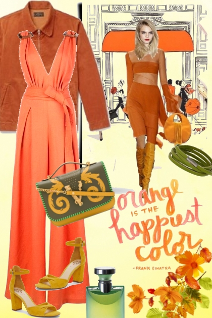 Orange Is the Happiest Color- Fashion set