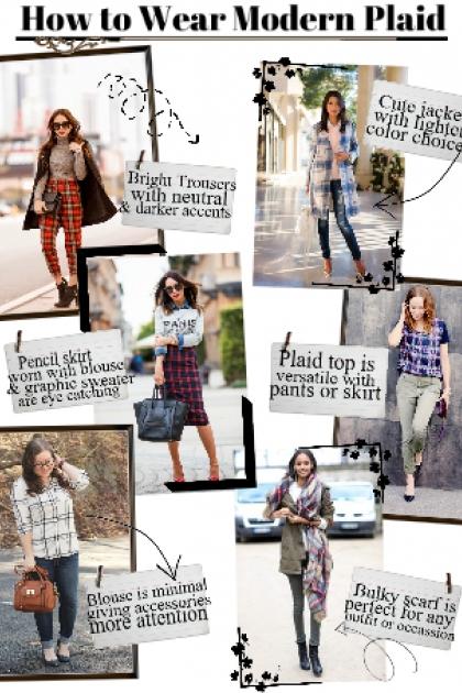 How to wear modern plaid