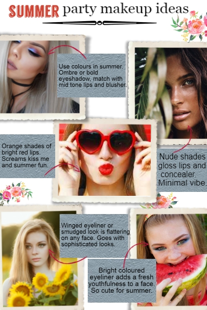 Summer party makeup ideas