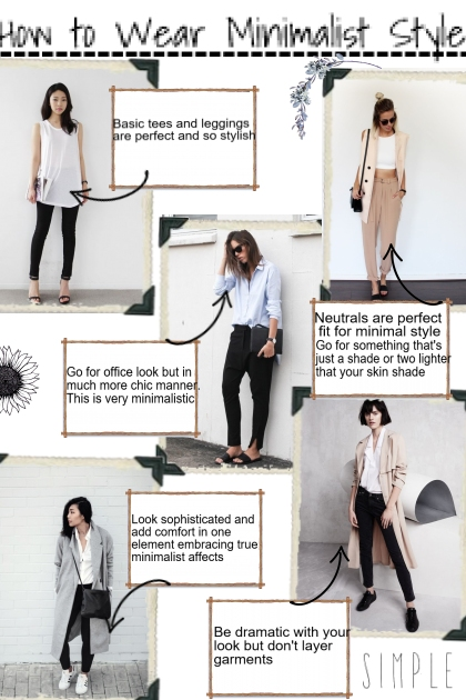 how to wear minimalist style