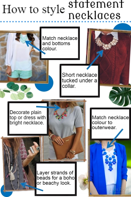How to style statement necklace