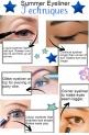 Eyeliner techniques summer
