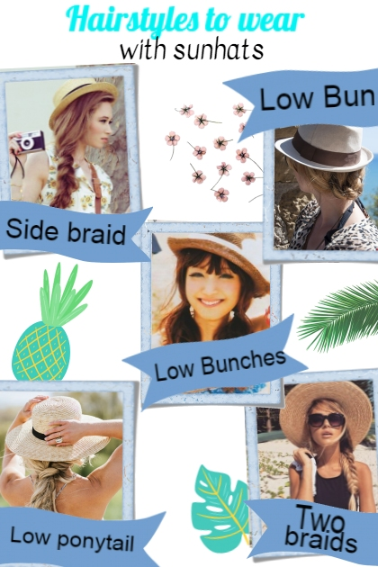 Hairstyle with sunhats