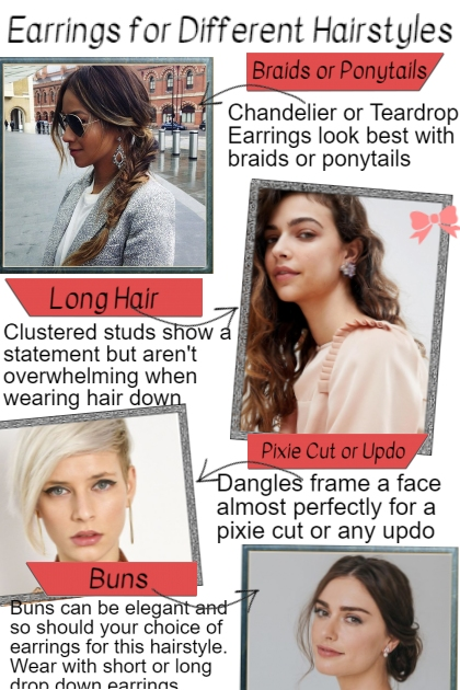 Earrings for Different Hairystyles