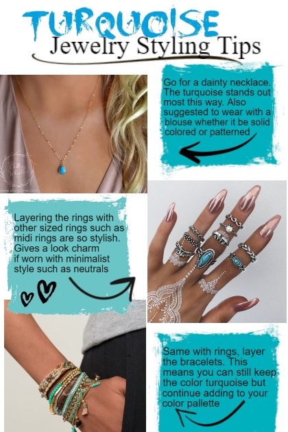 Turquoise jewelry styling tips- Fashion set