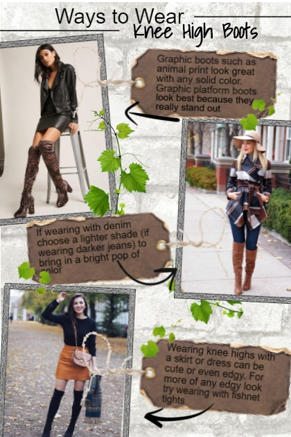 Ways to Wear Knee High Boots