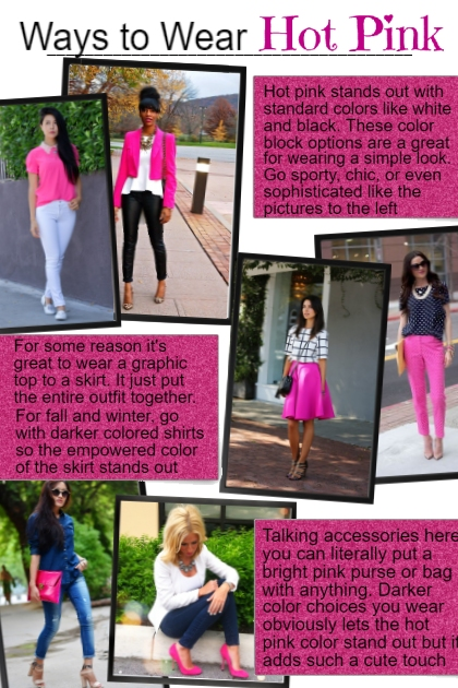 Ways to Wear Hot Pink