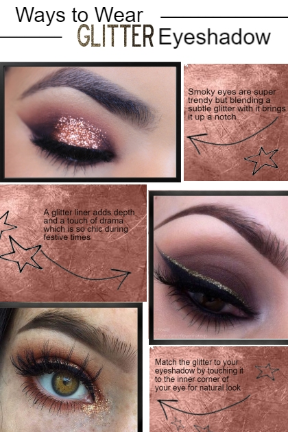 Ways to Wear Glitter Eyeshadow
