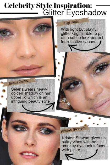celeb style inspo: Glitter Eyeshadow