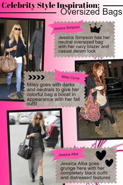 celeb style inspo: Oversized Bags
