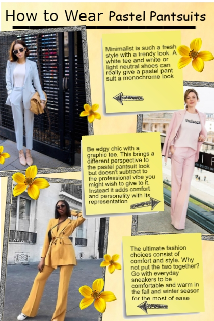 How to Wear Pastel Pantsuits