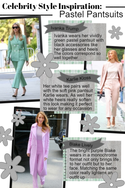 celeb style inspo: Pastel Pantsuits