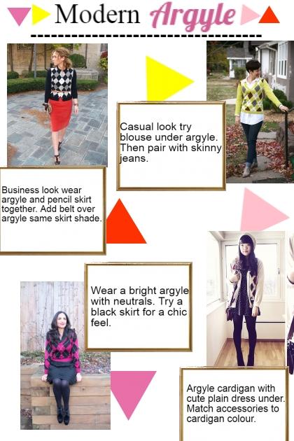 Modern Argyle- Combinaciónde moda