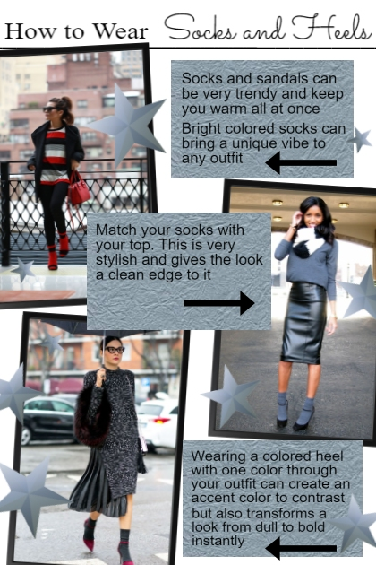 How to Wear Socks and Heels