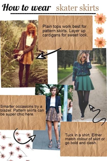 Styling skater skirt- Combinaciónde moda