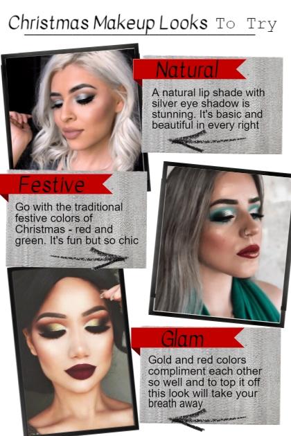 Christmas Makeup Looks- Combinaciónde moda