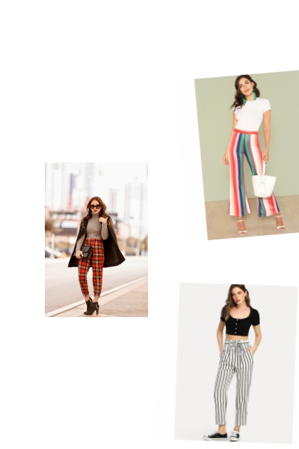 stripe pants- Fashion set