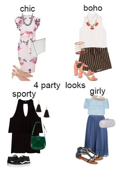 4 party looks- Fashion set