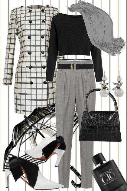 Achromatic Graphic- Fashion set