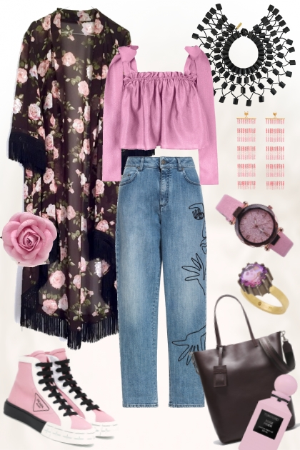 Black & Roses & Denim