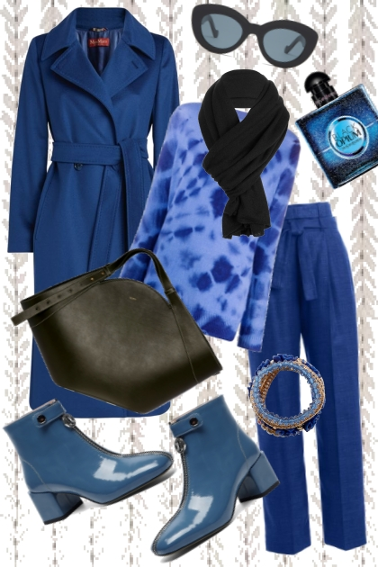 Lady In Blue- Combinaciónde moda
