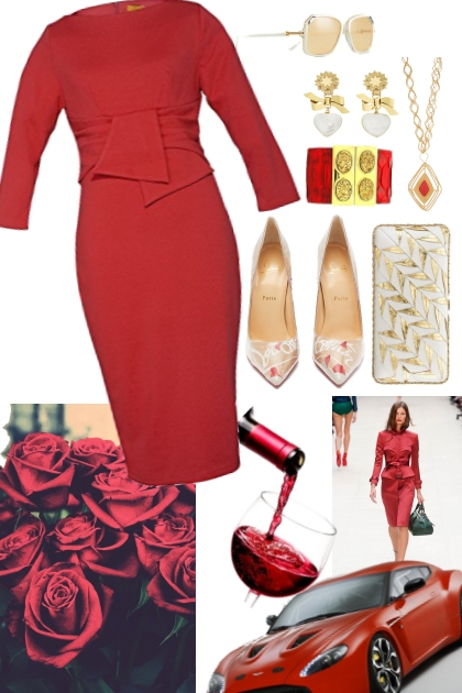 lady in red- Fashion set