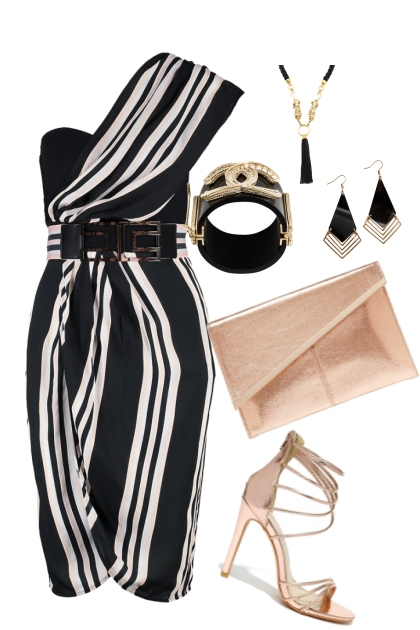 STRIPED GLAM- Fashion set